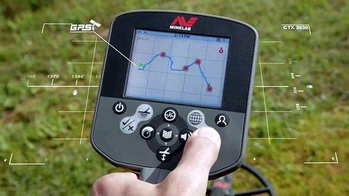 Функция GPS металлоискателя Minelab CTX 3030