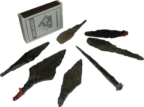 Все эти находки были сделаны грунтовым металлоискателем.